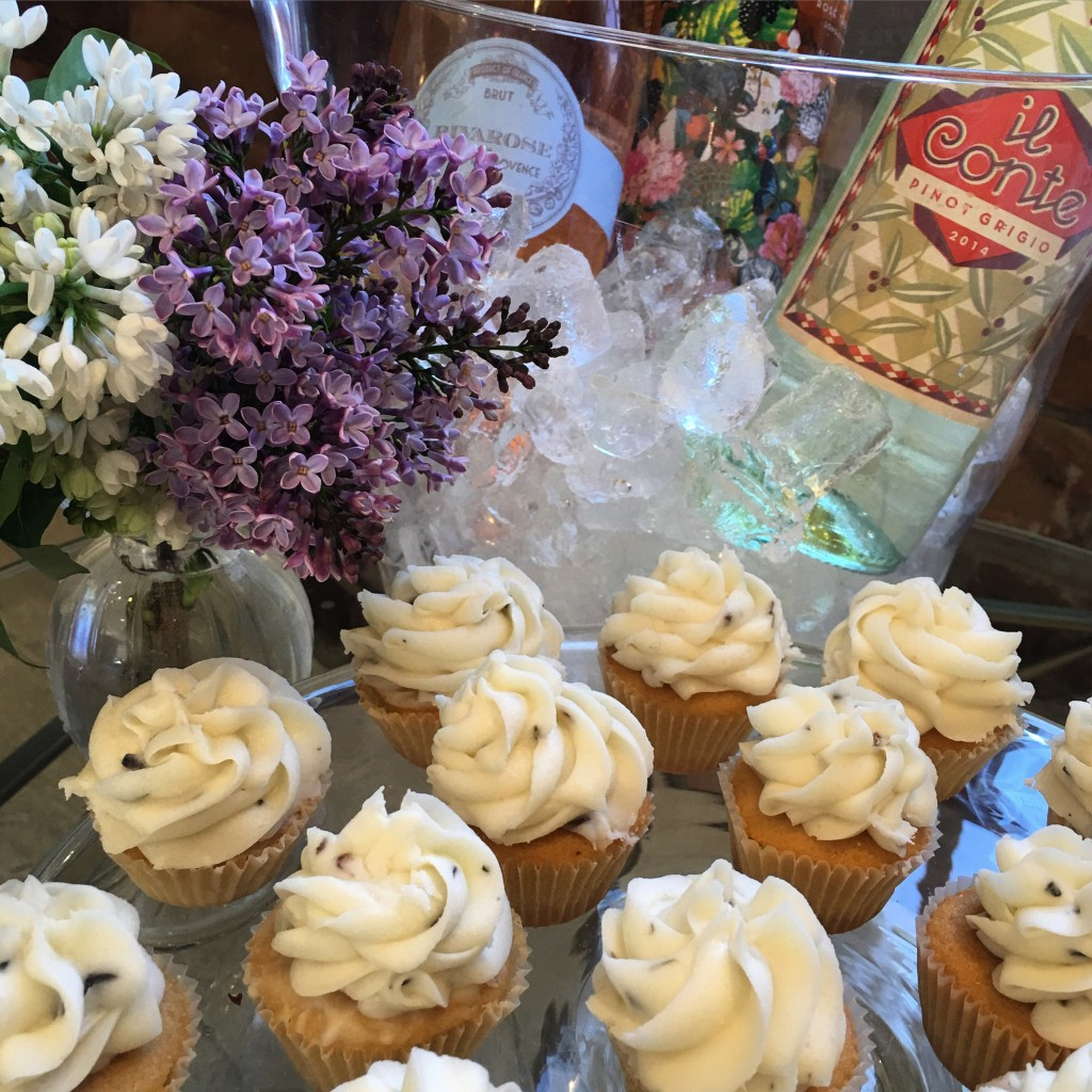 Lavender Honey Cupcake Presentation
